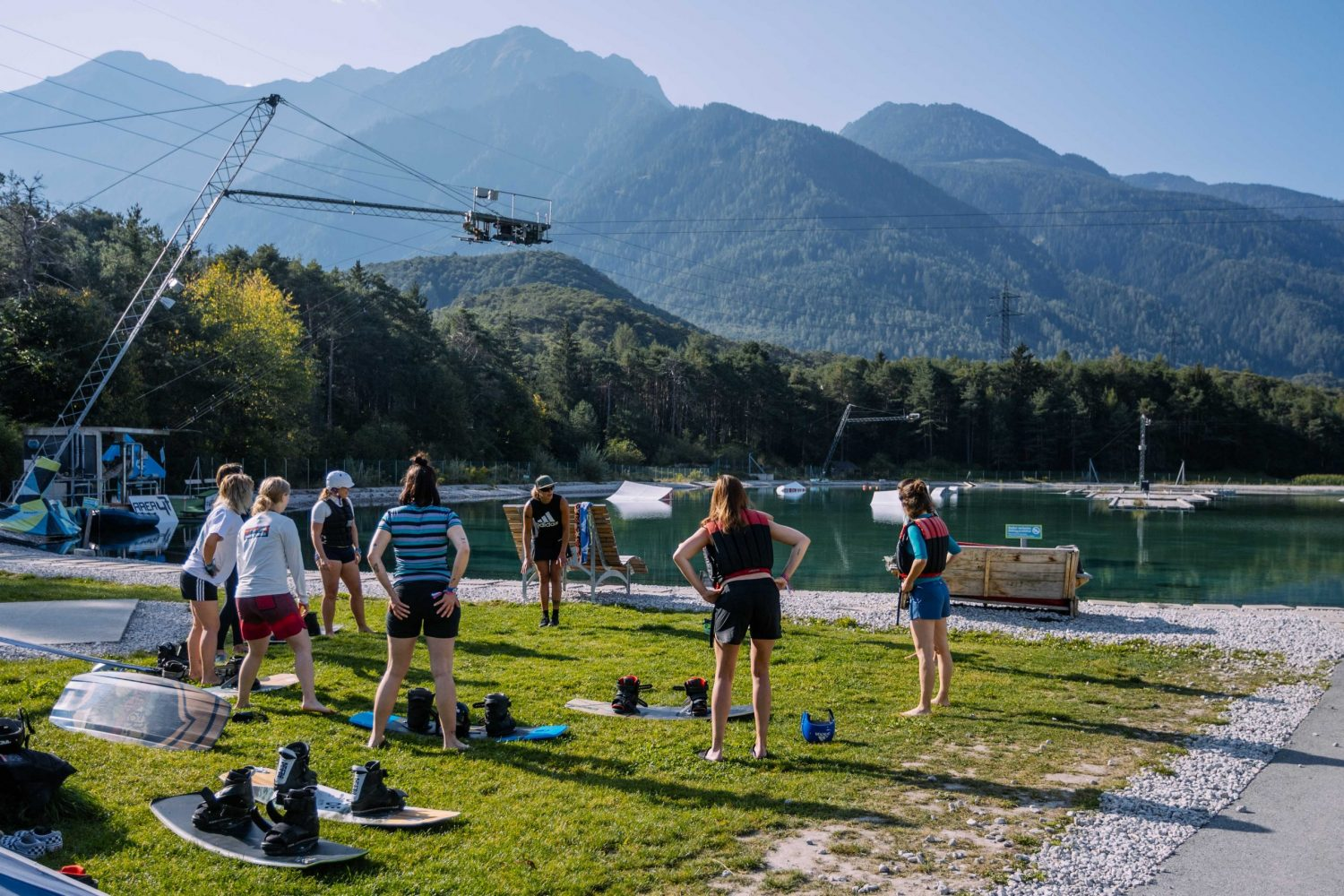 Girls Camp Wakeboarding in Tirol, Österreich