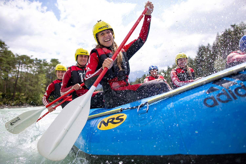Rafting in der Schulsportwoche