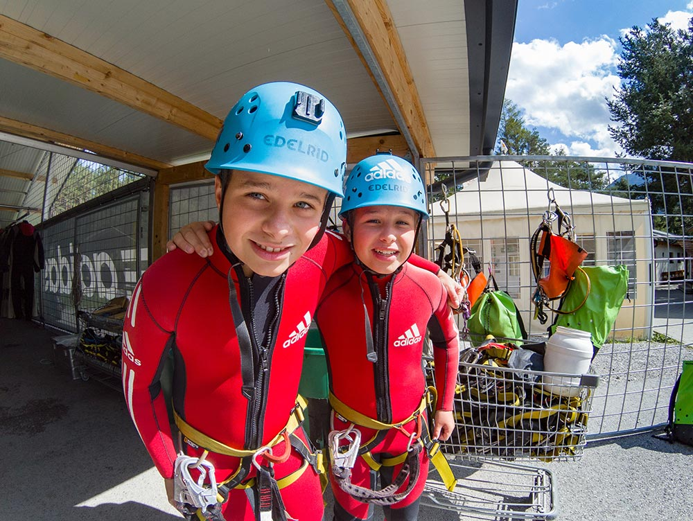 Canyoning für Kinder in Tirol