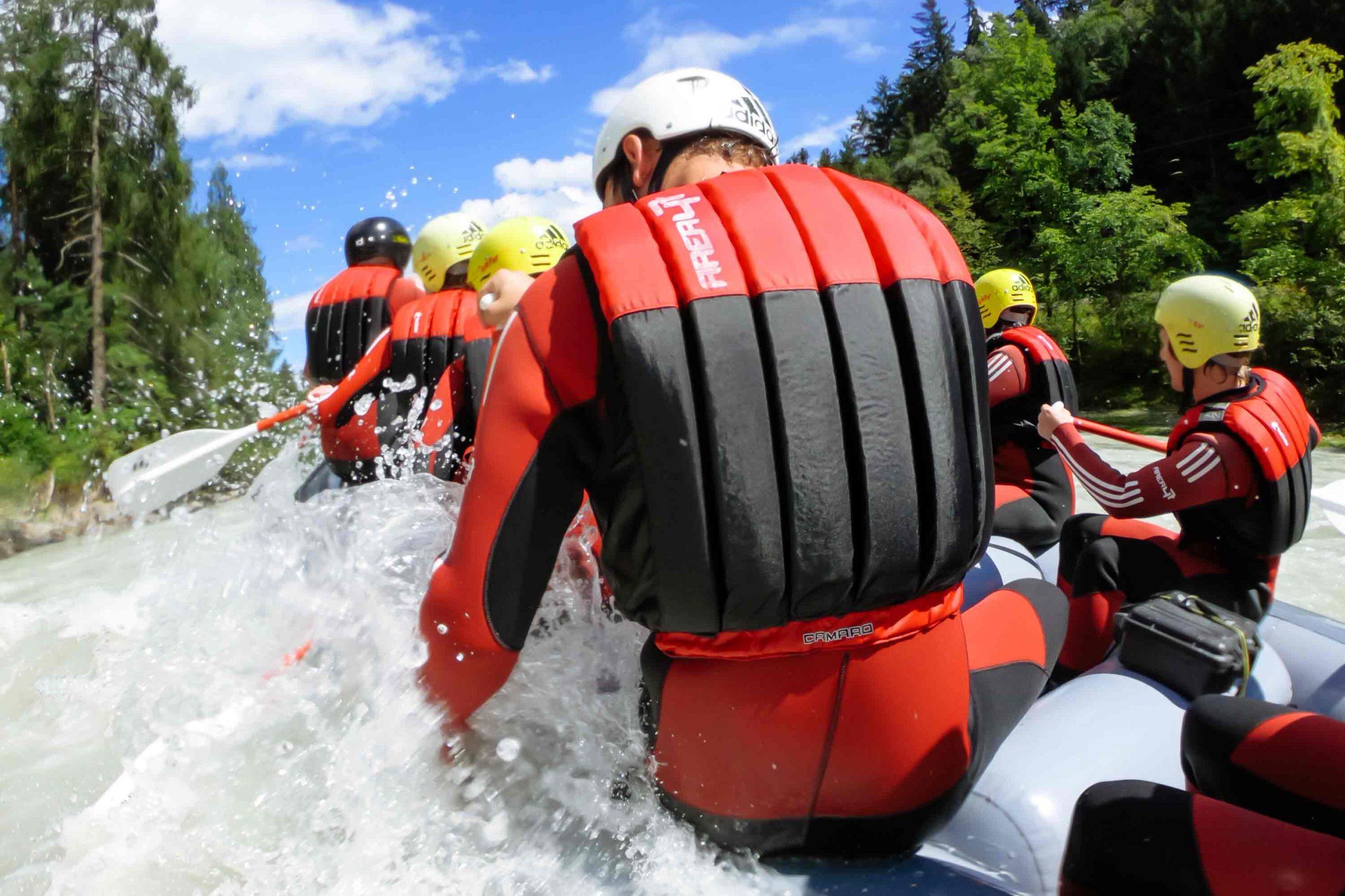 Einsteiger-Touren Rafting in der Imster Schlucht